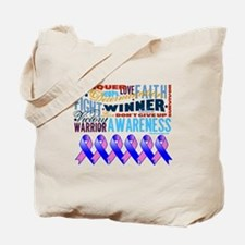Male Breast Cancer Tote Bag
