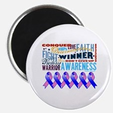 """Male Breast Cancer 2.25"""" Magnet (100 pack)"""