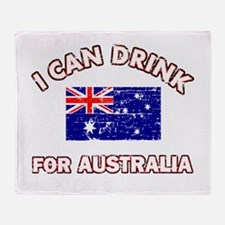 I can drink for Australia Throw Blanket