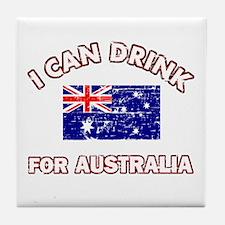 I can drink for Australia Tile Coaster