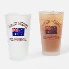 I can drink for Australia Drinking Glass