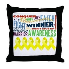Powerful Sarcoma Awareness Throw Pillow