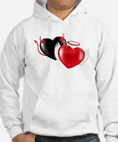 Angle and Demon Hearts Hoodie
