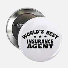 """World's Best Insurance Agent 2.25"""" Button"""