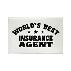 World's Best Insurance Agent Rectangle Magnet
