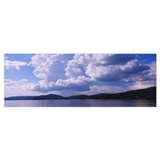 Clouds over mountains, Fulton Chain Lakes, Adirond Poster