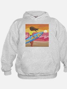 little surfer girl Hoodie