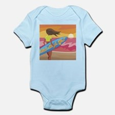 little surfer girl Infant Creeper