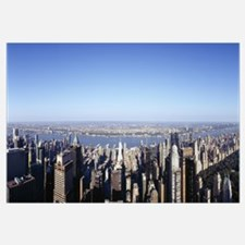 Aerial view of a cityscape, Manhattan, New York Ci