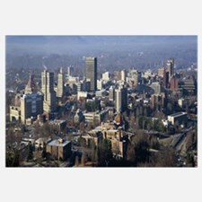 Aerial view of a city, Asheville, Buncombe County,