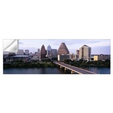 Skylines in a city, Lady Bird Lake, Colorado River Wall Decal