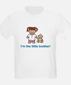 """I'm the little brother!"" (pink) Kids T-Shirt"