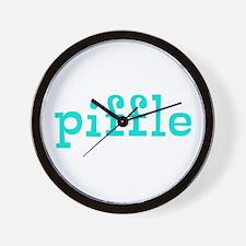 Piffle Wall Clock