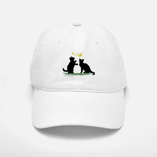 Kittens & Butterflies Baseball Baseball Cap