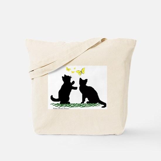 Kittens & Butterflies Tote Bag
