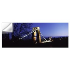 Suspension bridge lit up at night, Clifton Suspens Wall Decal