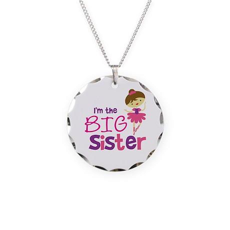 Dance Big Sister Necklace Circle Charm