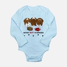 Nothin' Butt St Bernards Long Sleeve Infant Bodysu