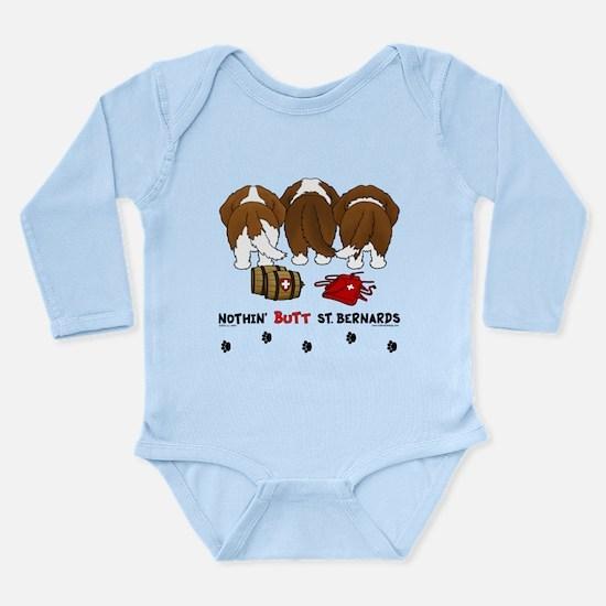 Nothin' Butt St Bernards Long Sleeve Infant Bodysu