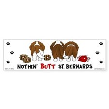 Nothin' Butt St Bernards Car Sticker