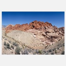 Rock formations on a landscape, Red Rock Canyon Na