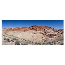 Rock formations on a landscape, Red Rock Canyon Na Poster