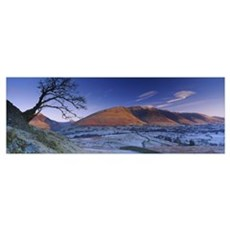 Mountain on a landscape, Blencathra, English Lake  Poster