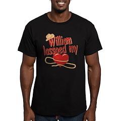 William Lassoed My Heart Men's Fitted T-Shirt (dar