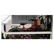Bicycle parked on a porch of a house, Elbow Lane,  Wall Decal