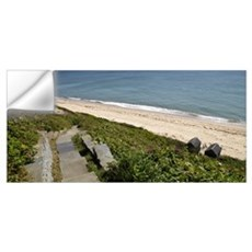 Stepped walkway leading towards a beach, Siasconse Wall Decal