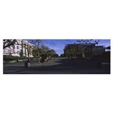 Trees in front of a campus, University Of Californ Canvas Art
