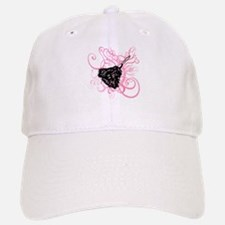 Feather duster, pink swirls. Baseball Baseball Cap