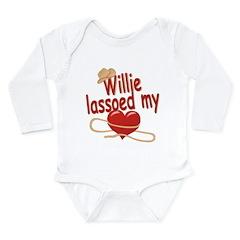 Willie Lassoed My Heart Long Sleeve Infant Bodysui