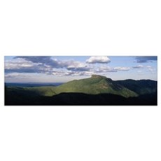 Clouds over mountains, Table Rock, Linville Gorge  Poster