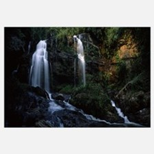 Waterfall in a forest, Long Creek Falls, Chattooga