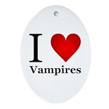 I Love Vampires Ornament (Oval)