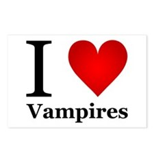 I Love Vampires Postcards (Package of 8)