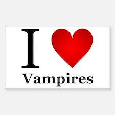 I Love Vampires Sticker (Rectangle)