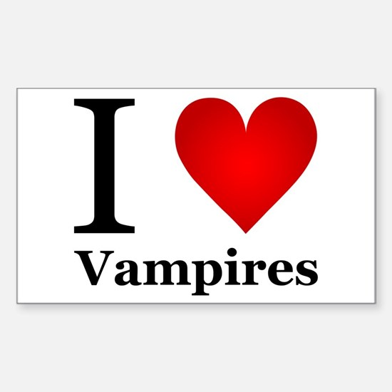 I Love Vampires Sticker (Rectangle)
