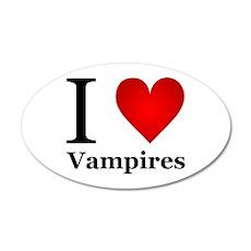 I Love Vampires 22x14 Oval Wall Peel