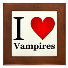 I Love Vampires Framed Tile