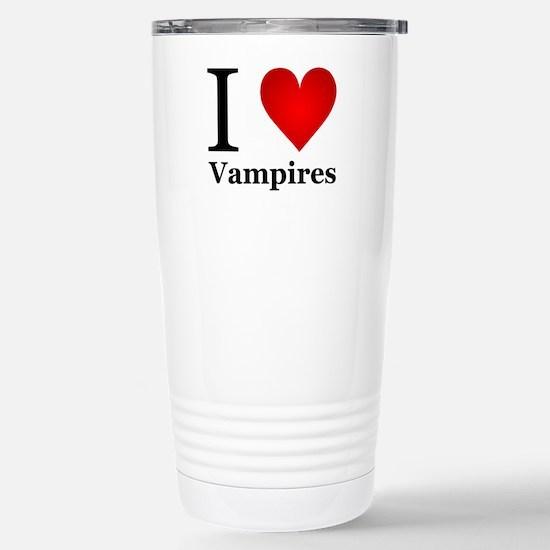 I Love Vampires Stainless Steel Travel Mug