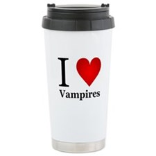 I Love Vampires Travel Mug