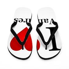 I Love Vampires Flip Flops