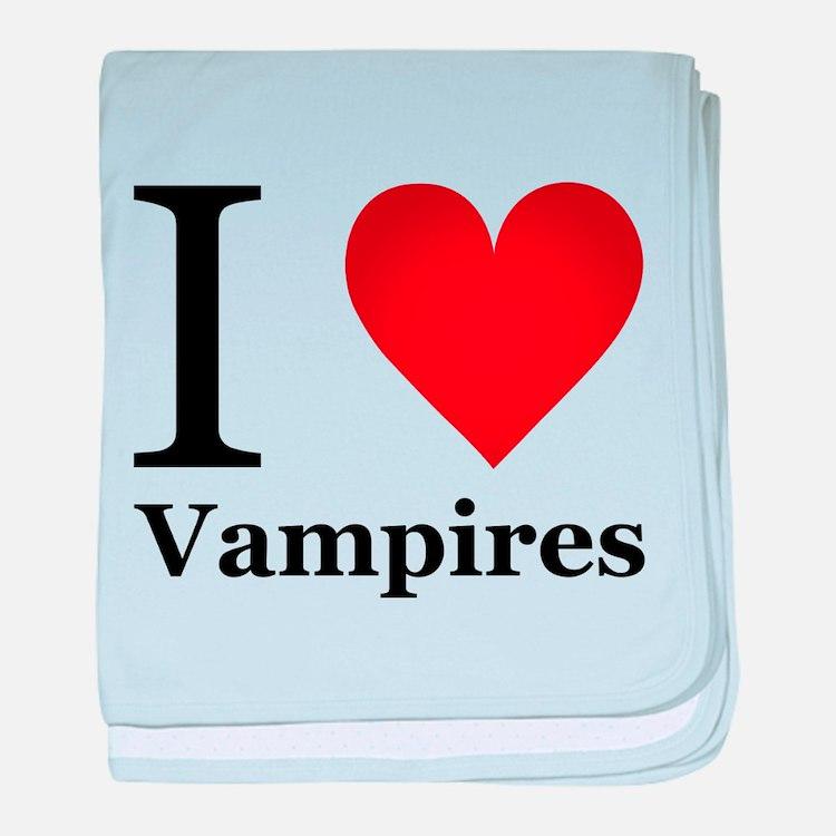 I Love Vampires baby blanket