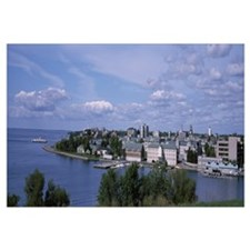Town at the lakeside, view of Royal Military Colle
