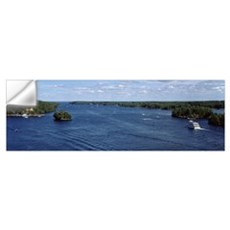 Cruise boat in a river, St. Lawrence River, Thousa Wall Decal