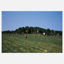 Hay bales in a field, Muskoka, Ontario, Canada
