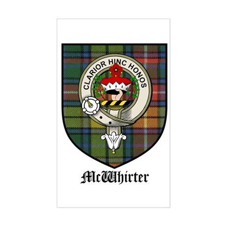 McWhirter Clan Crest Tartan Rectangle Sticker