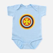 Bullseye Maltese Cross Infant Bodysuit